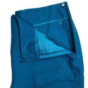 Akris Pants - Akris Slim Pleated Blue Trouser Career Pants